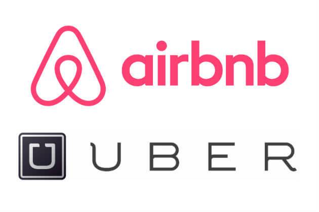 branding for startups airbnb and uber logo