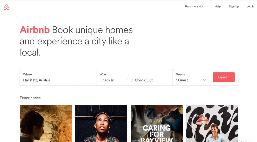 new airbnb website
