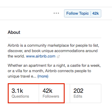 quora airbnb topic questions numbers