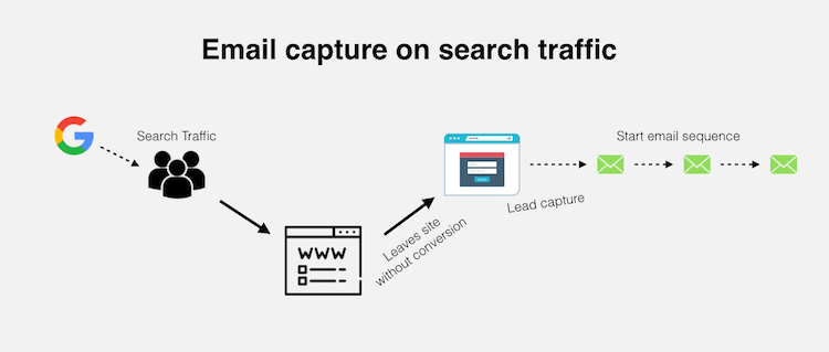 search traffic lead capture