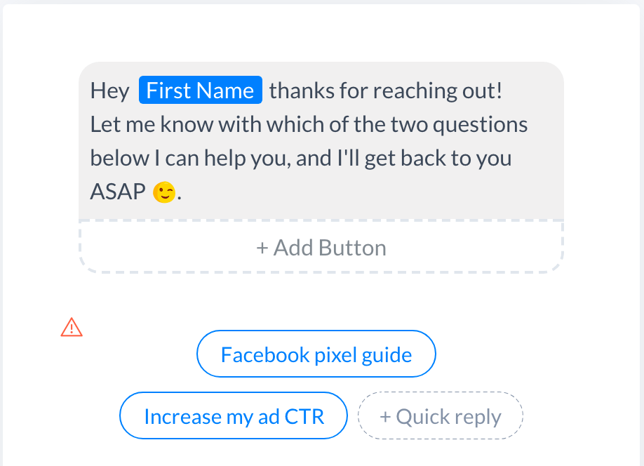 add facebook reply