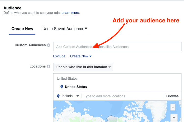 add your audience