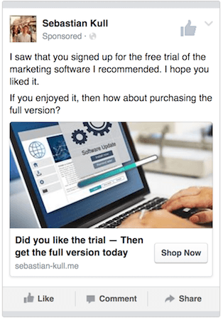 buying the software ad
