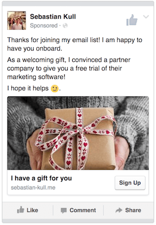 free gift email