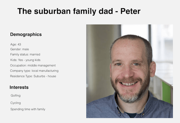 marketing persona - peter
