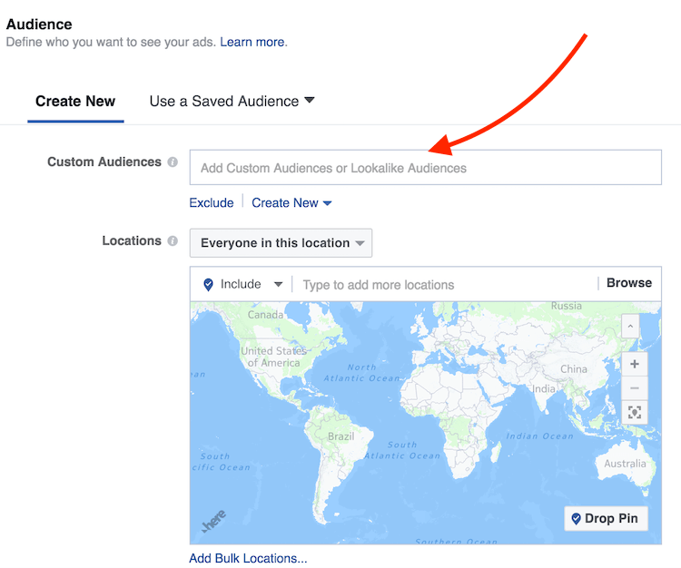 set audience in facebook