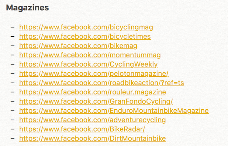 magazine facebook pages