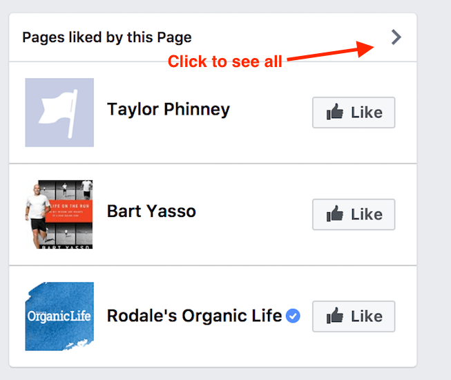 pages liked by the page
