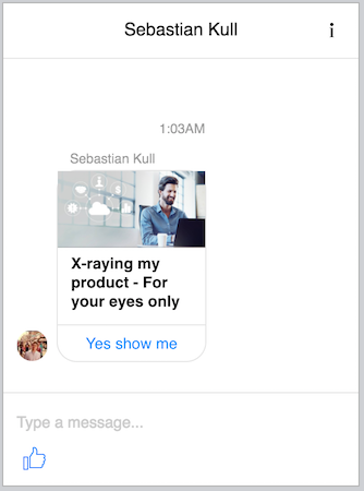 messenger product message