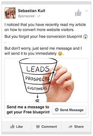 how to create retargeting ads in facebook
